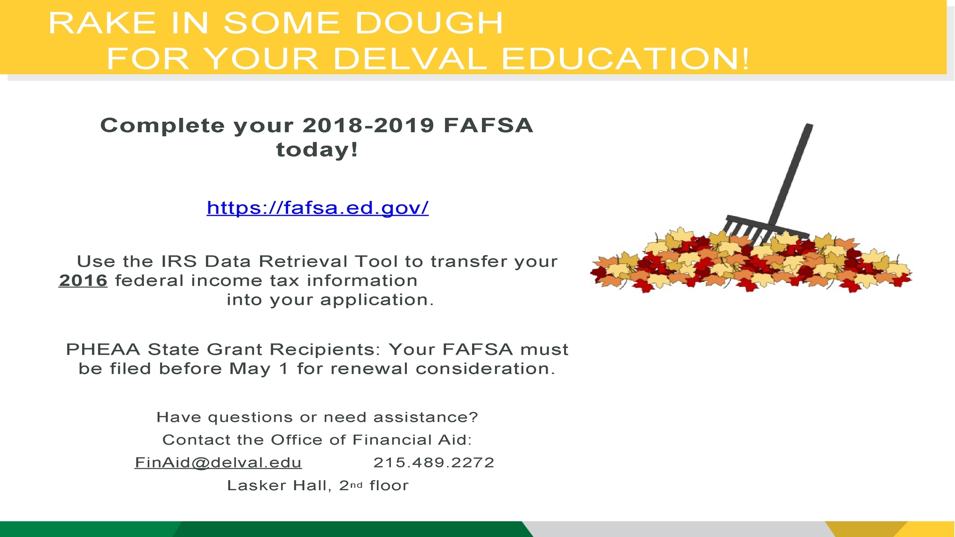 Information regarding November FAFSA Filing Reminder is as follows Start date is November 07 2017 and End Date is November 30 2017 and File is Browse and Name is Charis Lasky and Email is Charis.Lasky@delval.edu and Affiliation is Department and File Name is Fall-FAFSA-Filing-Reminder-Campus-Monitor-Slide-110117_comp.jpg and Panel is Main and Name of Ad/Event is November FAFSA Filing Reminder and Group Name is Office of Financial Aid and