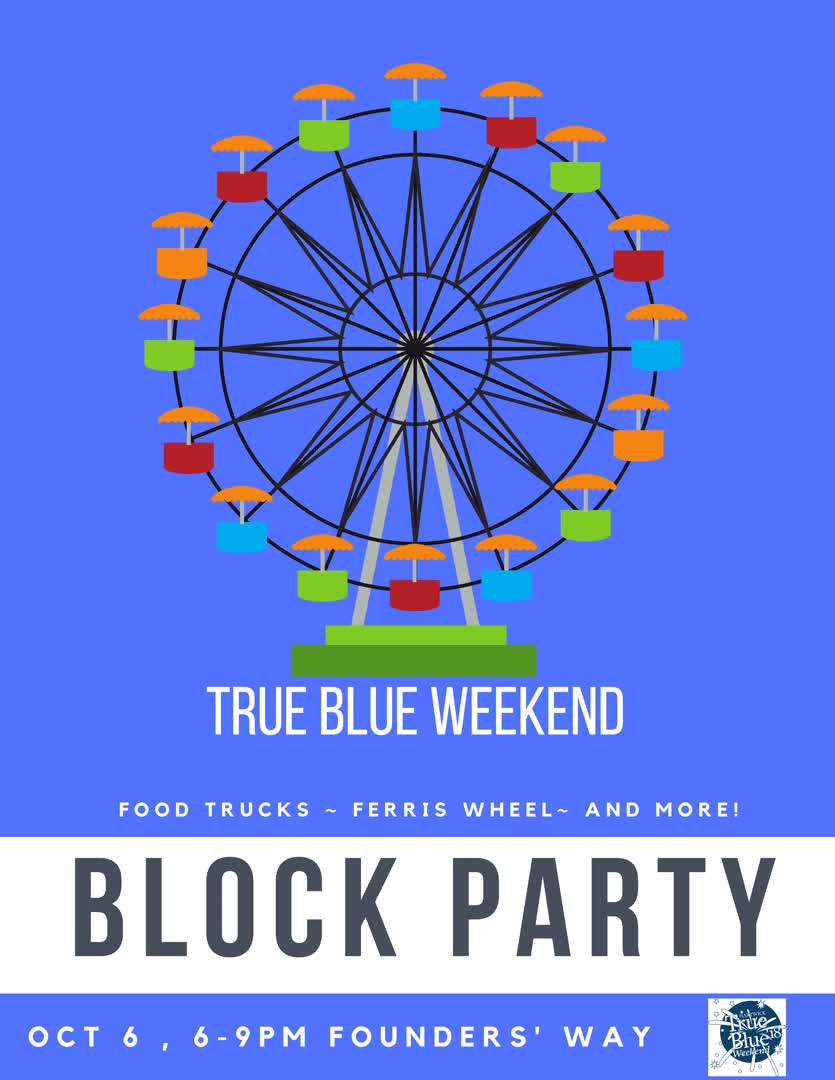 Information regarding True Blue Block Party is as follows Start date is August 06 2018 and End Date is October 06 2018 and File is Browse and Affiliation is Staff and File Name is True-Blue-Block-Party2_comp.jpg and Name is Joshua Nelson and Email is nelsonj4@hartwick.edu and Panel is Side and Name of Ad/Event is True Blue Block Party and