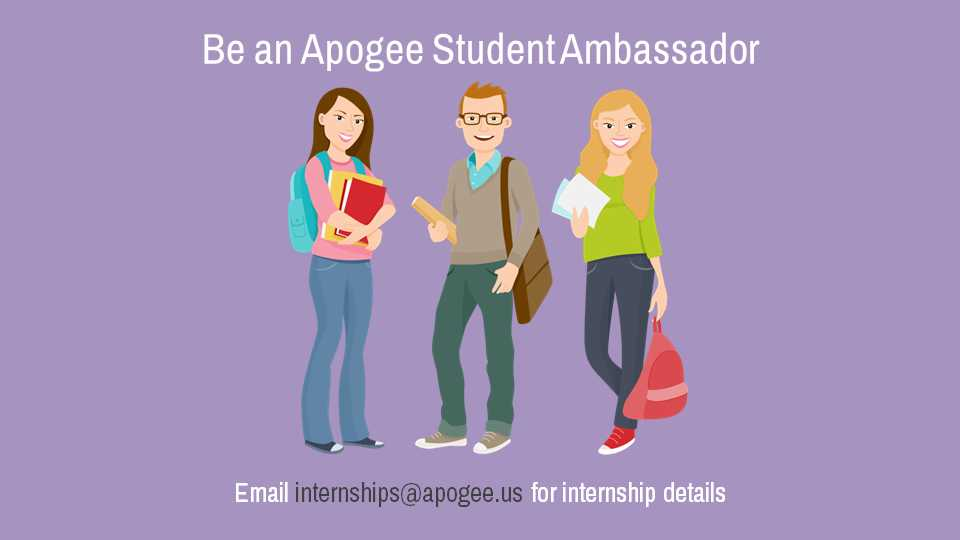 Information regarding Be a Student Ambassador is as follows Start date is August 03 2017 and End Date is August 03 2020 and Name of Ad/Event is Be a Student Ambassador and Email is bking@apogee.us and Name is Brandon King and File is Browse and File Name is Be-a-Student-Ambassador_comp.jpg and Panel is Main and Affiliation is Other and