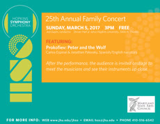 Information regarding Hopkins Symphony Family Concert is as follows Start date is February 24 2017 and End Date is March 05 2017 and File is Browse and Name of Ad/Event is Hopkins Symphony Family Concert and Group Name is Hopkins Symphony Orchestra and Email is hso@jhu.edu and File Name is FlashAd-March-FAMILY-2017_comp.jpg and Panel is Main and Name is Nicoleen Willson and Affiliation is Recognized Student Organization and
