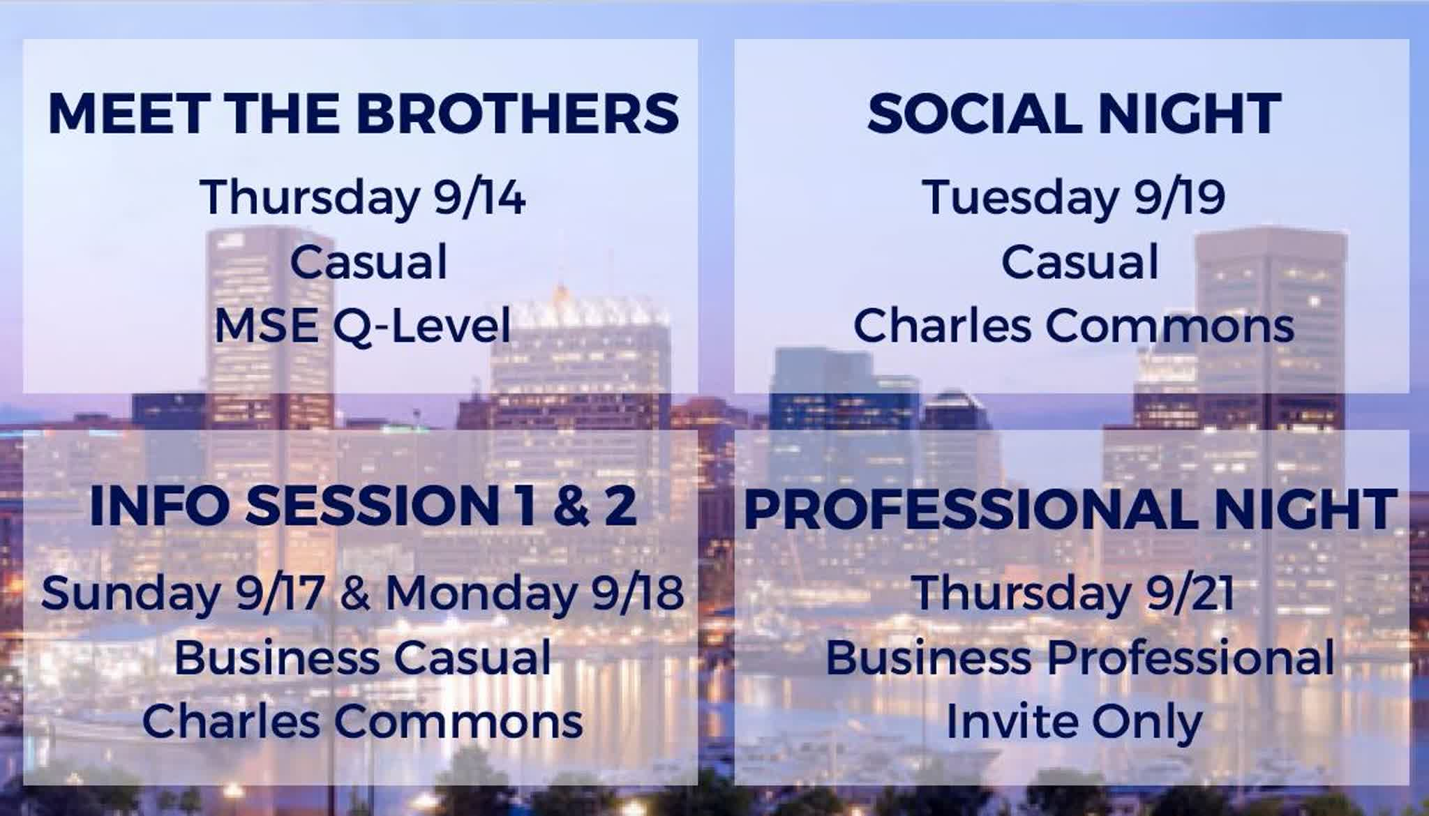 Information regarding JHU AKPsi Flyer is as follows Start date is September 14 2017 and End Date is September 21 2017 and File is Browse and File Name is JHU-Meet-the-Brothers_comp.jpg and Name of Ad/Event is JHU AKPsi Flyer and Panel is Main and Affiliation is Recognized Student Organization and Name is Sophia White and Email is swhite@apogee.us and