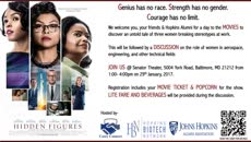 Information regarding MOVIE SCREENING for 'Hidden Figures' is as follows Create Your Own Tags: is #movie  #hidden_figures #work #equality #dignity and Start date is January 07 2017 and End Date is January 29 2017 and Name is Aanishaa Jhaldiyal and Email is ajhaldi1@jhmi.edu and File is Browse and Group Name is Hopkins Biotech Network and File Name is Screen-Shot-2017-01-06-at-4.05.13-PM_comp.jpg and Panel is Main and Name of Ad/Event is MOVIE SCREENING for 'Hidden Figures' and Affiliation is Recognized Student Organization and