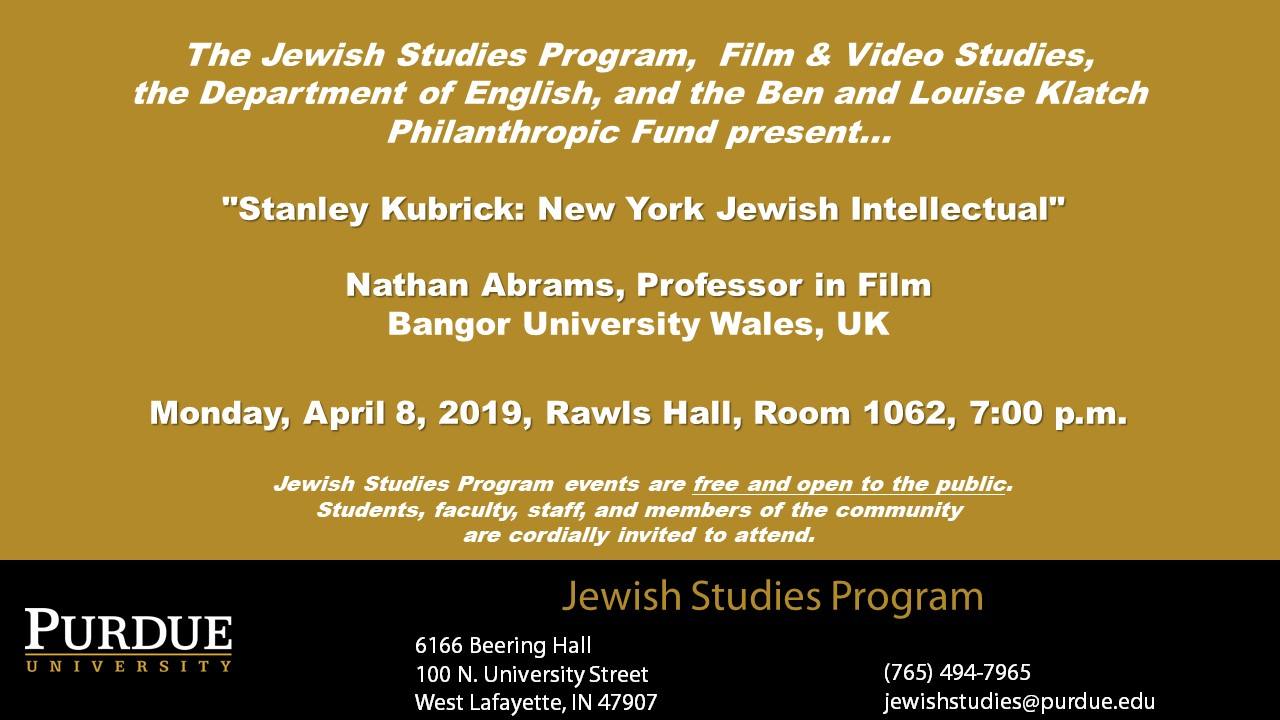 Information regarding Klatch Jewish Arts Series Presentation is as follows Start date is March 01 2019 and End Date is April 08 2019 and Name is Alice Wenger and File is Browse and File Name is purdue144884_comp.jpg and Name of Ad/Event is Klatch Jewish Arts Series Presentation and Panel is Main and Affiliation is Purdue Department and Group Name is Purdue Jewish Studies Program and Email is wengera@purdue.edu and