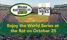 Information regarding World Series at the Rathskeller is as follows Create Your Own Tags: is #shopMason and Start date (when you would like your content to be posted) is October 11 2017 and End Date  (when you would like your content to be removed from the screens) is October 25 2017 and File is Browse and File Name is WS_rat_comp.jpg and Panel for your ad to be displayed is Main and Affiliation is Mason Department and Name is Nhi Nguyen and Email is nnguye@gmu.edu and Group Name is shopMason and Name of Ad/Event is World Series at the Rathskeller and