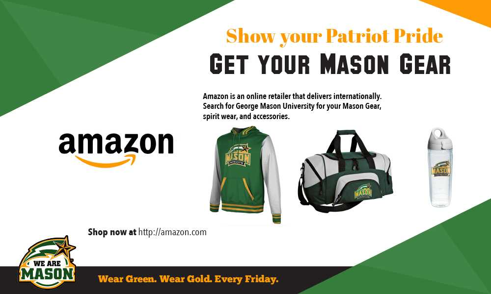Information regarding Mason Retailers is as follows Start date (when you would like your content to be posted) is August 10 2017 and End Date  (when you would like your content to be removed from the screens) is August 31 2017 and File is Browse and File Name is amazon-01_comp.jpg and Panel for your ad to be displayed is Main and Name of Ad/Event is Mason Retailers and Name is Nhi Nguyen and Email is nnguye@gmu.edu and Affiliation is Other and Group Name is shopMason and