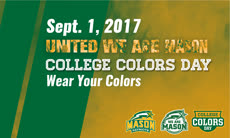 Information regarding College Colors Day is as follows Start date (when you would like your content to be posted) is August 01 2017 and End Date  (when you would like your content to be removed from the screens) is September 01 2017 and File is Browse and Name of Ad/Event is College Colors Day and File Name is masonad1-02_comp.jpg and Panel for your ad to be displayed is Main and Name is nhi nguyen and Email is nnguye@gmu.edu and Affiliation is Other and Group Name is shopMason and