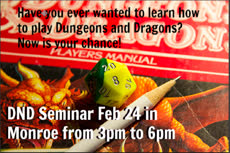 Information regarding DND Seminae is as follows Create Your Own Tag: is #Tabletop and Start date is February 10 2018 and End Date is February 28 2018 and File is Browse and Name of Ad/Event is DND Seminae and File Name is Capture2.PNG_comp.jpg and Panel is Main and Email is rdrake@mail.umw.edu and Affiliation is Recognized Student Organization and Name is Robert Drake and Group Name is UMW Tabletop  Game Club and