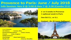 Information regarding Summer in France is as follows Create Your Own Tag: is #UMWabroad and Start date is October 30 2017 and End Date is November 28 2017 and Email is bdilauro@umw.edu and Name is Brooke Di Lauro and File is Browse and Affiliation is Department and File Name is EagleVision-PP-2018_comp.jpg and Panel is Main and Group Name is Study Abroad France (MLL & CIE) and Name of Ad/Event is Summer in France and
