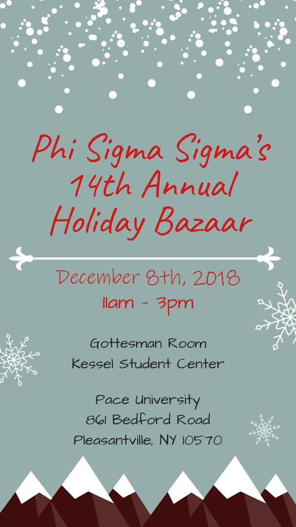 Information regarding Phi Sigma Sigma's 14th Annual Holiday Bazaar is as follows End Date is December 08 2018 and Start date is October 31 2018 and File is Browse and File Name is 1540223590_comp.jpg and Name is Magen Wolmart and Email is mw42178p@pace.edu and Group Name is Phi Sigma Sigma and Name of Ad/Event is Phi Sigma Sigma's 14th Annual Holiday Bazaar and Affiliation is recognized student organization and Panel is Side and