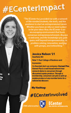 Information regarding Jessica Nelson Impact (portrait) is as follows Create Your Own Tag: is #ECenterImpact #ECenterInvolved and Start date is April 17 2019 and End Date is August 04 2019 and Name is Allison Bell and Email is allison.bell@unh.edu and File is Browse and Affiliation is Department and File Name is Jessica-Nelson-Impact-Mub-Side-TV-Ad_comp.jpg and Name of Ad/Event is Jessica Nelson Impact (portrait) and Panel is Side and Group Name is UNH ECenter and