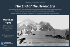 Information regarding The End of the Heroic Era is as follows Create Your Own Tag: is #UNHLibrary #Exhibit and Start date is March 06 2018 and End Date is March 28 2018 and File is Browse and Affiliation is Department and Group Name is Dimond Library and File Name is Orca-HeroicEraTalk-2018-03-28_comp.jpg and Panel is Main and Name is Nicole Hentz and Email is nicole.hentz@unh.edu and Name of Ad/Event is The End of the Heroic Era and